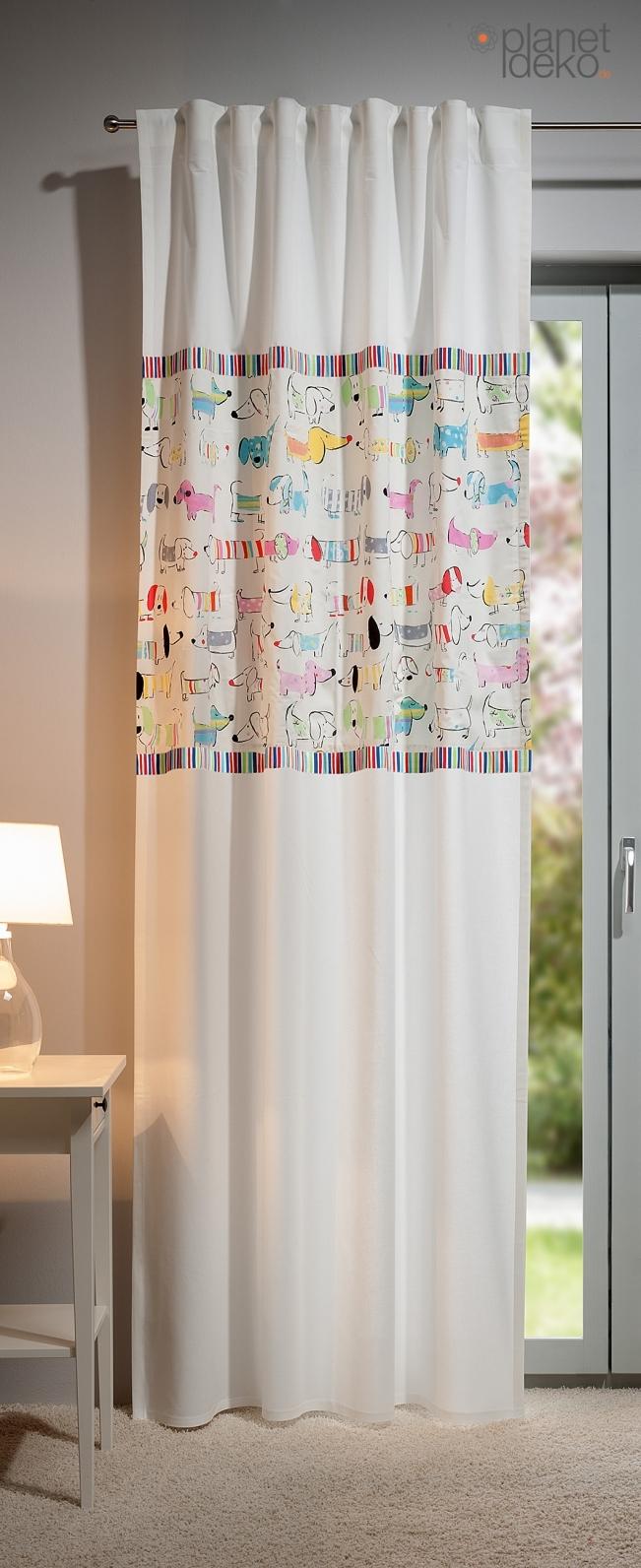 Fertigschals mit schlaufenband for Kinderzimmer fensterdeko