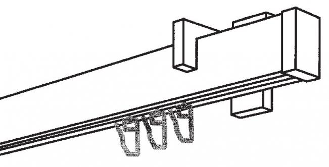 gardinenstangen f r die deckenmontage v2a optik 1 l ufig gardinenstangen. Black Bedroom Furniture Sets. Home Design Ideas